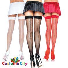 Adult's Women's Leg Avenue Backseam Thigh High Hold Up Fishnet Stockings Vintage Stockings, Stockings Lingerie, Fishnet Stockings, Thigh High Socks, Thigh Highs, Lingerie Catalog, Stocking Tights, Leg Avenue, Women Legs