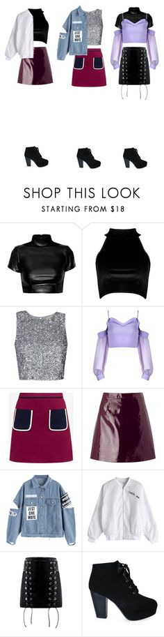"""""""good night"""" by hayarim ❤ liked on Polyvore featuring Boohoo, Ted Baker and Miss Selfridge"""
