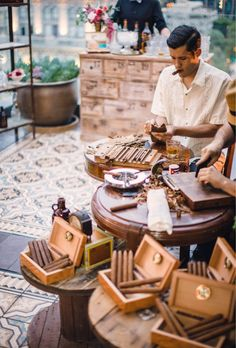 This cigar bar is such a great idea for parties at this rooftop venue!