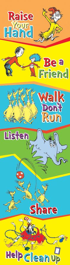 """Features: Product Type: -Posters. Dimensions: Overall Height - Top to Bottom: -45"""". Overall Width - Side to Side: -12"""". Overall Product Weight: -0.27 lbs. --Dr. Seuss™ Classroom Rules - Banner. 1"""