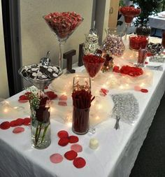 """One of my favorite parts about doing wedding sweets catering was creating """"candy bars""""! You may have seen these at weddings or parties. K..."""