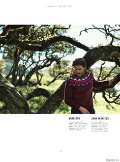 Noah Huntley Explores Outdoors in Fall Fashions for Esquire UK September 2014 Issue image Esquire UK September 2014 Issue Fall Collections Noah Huntley 003 800x1079