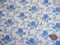 100-Pure-Cotton-ROSE-FLORAL-Vintage-SHABBY-CHIC-Quilting-Craft-FABRIC-U-CHOOSE Blue Bunting, Vintage Shabby Chic, 100 Pure, Fabric Crafts, Quilting, Rose, Floral, Cotton, Decorative Paper