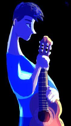 Blue guitar.