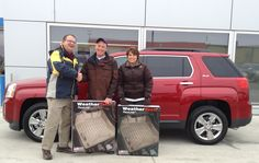 A special congrats goes out to Craig & Angie of Watertown on their 2015 GMC Terrian - just in time for their Christmas travels! Looks like Santa came early and dropped off new Weather Tech floor mats. w/ Ryan Overby #StopDreamingStartDriving