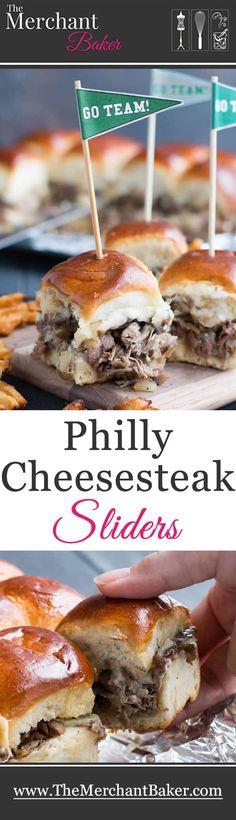Philly Cheesesteak Sliders
