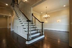 The inside of my dream house! Prob. change the railing to a black wrought iron pattern. So beautiful though!
