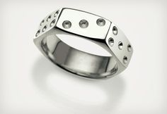 Nut Dice Ring is a cool piece of Sterling silver jewelry for people who love to wear unique accessories. Like an original dice it has opposing sides with numbers up to seven. Bijoux Design, Jewelry Design, Coin Ring, Stylish Rings, Ring Designs, Metal Working, Sterling Silver Jewelry, Silver Ring, Jewelry Rings