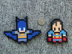 Batman and Superman Perler bead