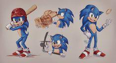 SonicMovie by JoyceW-Art on DeviantArt Hedgehog Game, Hedgehog Movie, Shadow The Hedgehog, Sonic The Hedgehog, Arte Assassins Creed, Sonic The Movie, Sonic Funny, Sonic Franchise, Super Mario Art