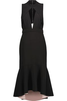 Rebecca VallanceCutout crepe midi dress