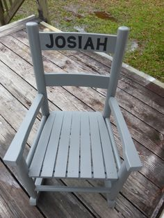 Customized Kids / Toddler Rocking Chair / Choose Color and Personalized Name by particulargifts on Etsy