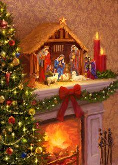 Daniel Rodgers | Advocate Art Merry Christmas Wallpaper, Merry Christmas To All, Christmas Nativity, Vintage Christmas Cards, Christmas Images, Christmas Art, Winter Christmas, Christmas Decorations, Illustration Noel