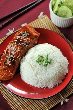 Salmon Teriyaki.  Note(s): made too much teriyaki sauce, but the dish was wonderful.