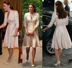 Kate's first look in Singapore was created by Jenny Packham. - September 2012