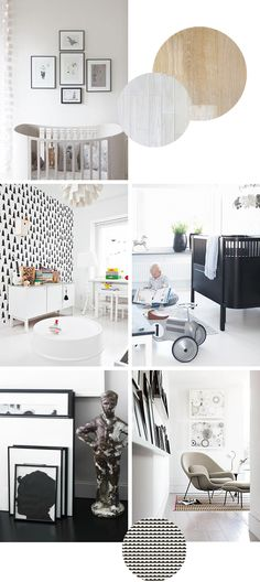 nursery makeover | inspiration + color palette black and white baby room