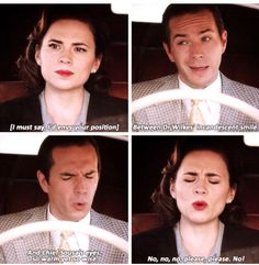 I love how even Peggy hates the love triangle and she's in it!