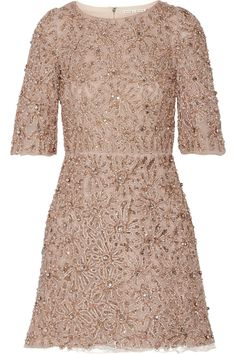 Alice + Olivia | Embellished tulle mini dress | NET-A-PORTER.COM