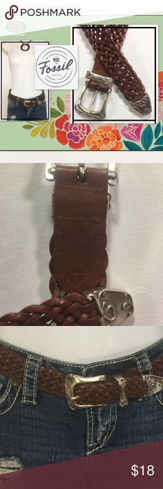 Fabulous FOSSIL Braided Belt w/ Scroll Buckle Express your style with this Vintage Scroll Buckle belt. With antiqued metallic hardware and a classic Braided leather strap, it's an accessory you'll love to show off. Amazing condition! Worn once! Fossil Accessories Belts