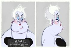 Villain Mugshots  Ursula por HaaappyAccidents en Etsy