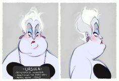 Villain Mugshots Ursula