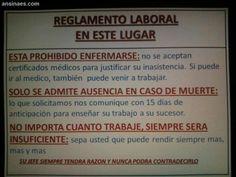Letreros Graciosos - Reglamento Laboral