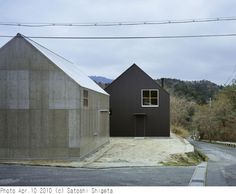 House by Tato Architects located at the foot of Mt. Hiei near the border of Kyoto and Shiga, Japan.