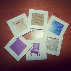 Con diferentes texturas podemos crear tarjetas para reconocerlas mediante el tacto.