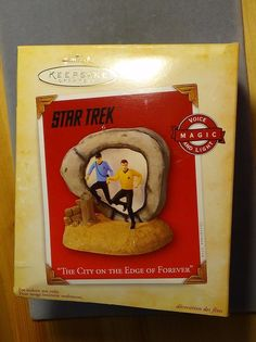 Hallmark Star Trek The City on the Edge of Forever Kirk Spock light sound