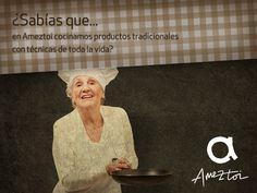 ¿Sabías que en Ameztoi cocinamos productos tradicionales con técnicas de toda la vida? #Ameztoi