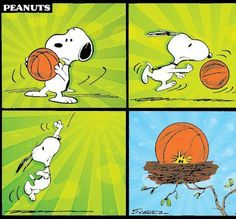 #Snoopy plays basketball! #Peanuts