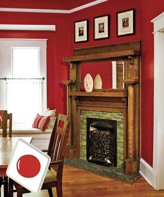 Our best dining room paint colors ideas and inspiration. Uncover inspiration and choose a color to enhance your room decor Dining Room Paint Colors, Dining Room Sets, Wall Colors, Red Walls, Red Painted Walls, Navy Walls, Beautiful Dining Rooms, White Ceiling, Diy Home Improvement