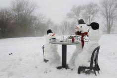 Snowmen at dinner or is it tea :)