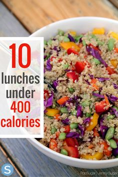 These 10 healthy and delicious recipes are the best meals you can make for lunch.  These are all under 400 calories too!  http://www.simplemost.com/400-calorie-lunches-that-will-help-stay-track/?utm_campaign=social-account&utm_source=pinterest.com&utm_medium=organic&utm_content=pin-description