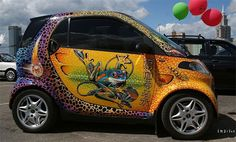 Aerography is one of the most fascinating method of painting primarily used in cars and other 3D objects decoration.