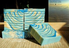 Natural handmade soap scented with essential oils orange and lemongrass, tiger stripe swirl 😍🏝🌅 Orange Essential Oil, Essential Oils, Orange Oil, Tiger Stripes, Cold Process Soap, Lemon Grass, Artisan, Natural, Handmade