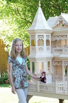A Woodworking Scroll Saw Patterns and Instructions Plan to Build Your Own Victorian Barbie Doll House Project by Victorian