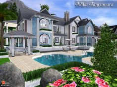 Check out this lot in the sims 4 gallery pinterest for Sims 2 mansiones y jardines