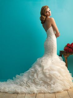 Discover the Allure 9254 Bridal Gown. Find exceptional Allure Bridal Gowns at The Wedding Shoppe Wedding Dress Organza, 2015 Wedding Dresses, Wedding Attire, Bridal Dresses, Wedding Gowns, Bridesmaid Dresses, Lace Wedding, Allure Bridals, Mode Outfits