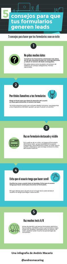 5 consejos para que tus formularios generen leads #infografia