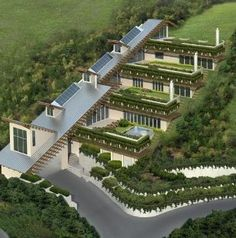 green roof..... underground shipping container homes