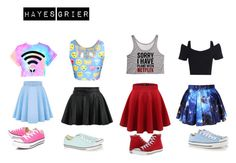 """Girly Skater"" by abigailsinclair ❤ liked on Polyvore featuring Converse"