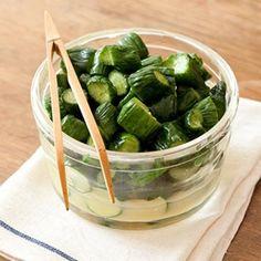 きゅうりのからし漬け pickled cucumber with mustard
