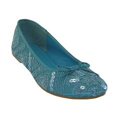 Easy Shoes Turquoise Sequin Embroidered Ballet Flat (425 RUB) ❤ liked on Polyvore featuring shoes, flats, sequin ballet flats, embroidered flats, ballet pumps, sequin flat shoes and polish shoes