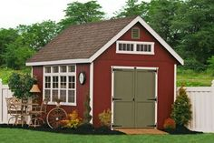 Another 10x14 Garden Storage Shed from Lancaster, PA. See the four large windows and four transome windows along with the steep pitched roof. The Premier Garden line at Sheds Unlimited are among the most aesthetically pleasing in the garden storage sheds of Lancaster, PA.