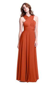 Sakura Convertible Dress| Long | Burnt Orange @Jessica Francisco