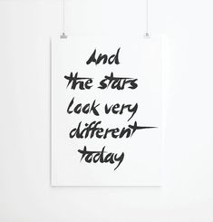 Inspirational quotes, quote prints, quote posters, print art, typography poster, music , space oddity quotes, david bowie on Etsy, $26.00