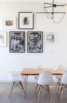 Simple dining sets give the industrial vibe, while keeping a cool, mid-century modern feel.   Shop Eames dining and more at www.smartfurniture.com