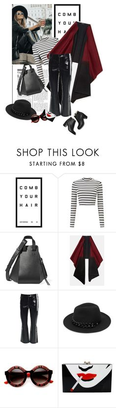 """""""Untitled #1706"""" by solespejismo ❤ liked on Polyvore featuring Pottery Barn, Miss Selfridge, Loewe, Lafayette 148 New York, J Brand, Karl Lagerfeld, ZeroUV and Charlotte Olympia"""