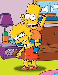 Bart: Woohoo! Giddy up, Lisa! Lisa: Bart, I don't want to do this right now!